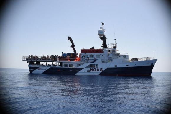 Médicos Sin Fronteras (MSF) trabaja a bordo del MY Phoenix, en la localización, rescate y asistencia médica. Foto: Médicos sin fronteras