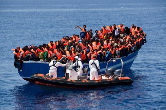 Las personas rescatadas procedían, fundamentalmente, de Eritrea y entre ellas se encontraban mujeres embarazadas y 45 niños. Foto: Médicos sin fronteras