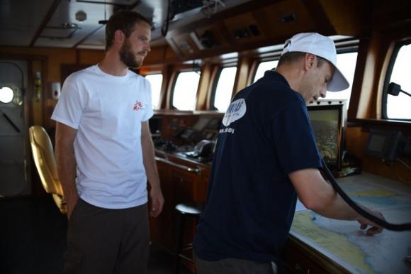 La tripulación, formada de 20 personas, incluye especialistas en búsqueda y salvamento, médicos y personal especializado. Foto: Médicos Sin Fronteras