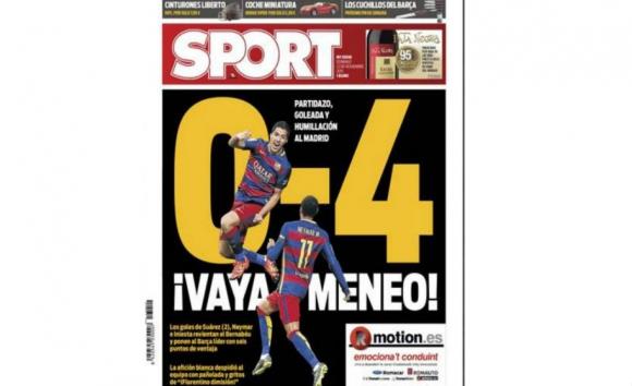 Medios internacionales sobre Barcelona ante Real Madrid.