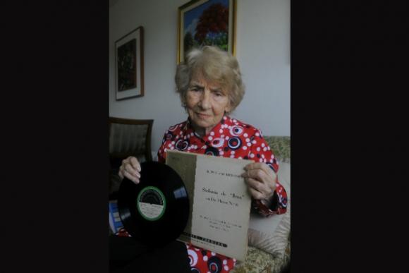 Gladys Camaño y la Sinfonía Cero de Beethoven (Foto: Ariel Colmegna)