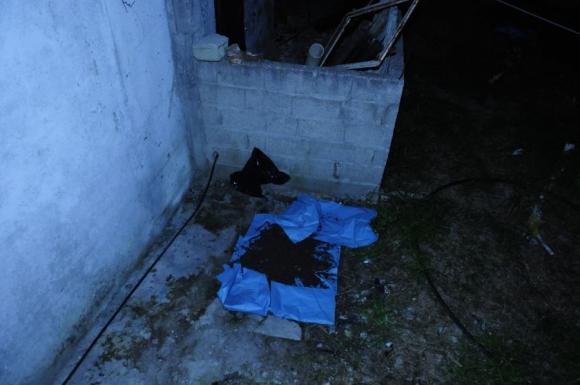 Lugar donde fue enterrado el cuerpo del individuo, 14 años atrás. Foto: F.Ponzetto.