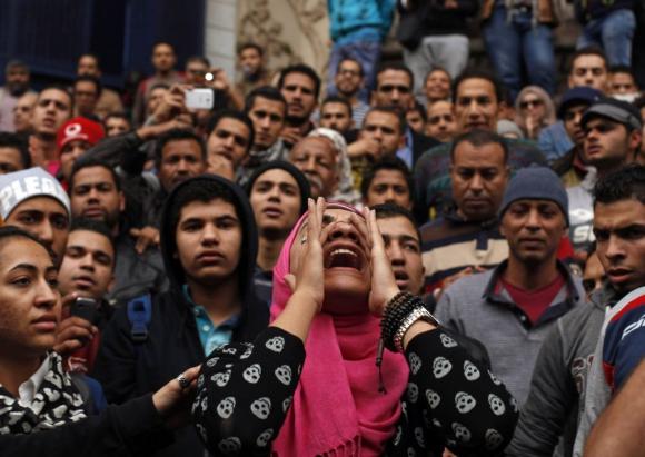 Protestas en Egipto tras un nuevo aniversario de la revuelta que derrocó a Hosni Mubarak. Foto: Reuters