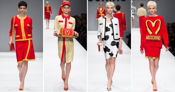 La colección de Moschino inspirada en McDonald's. Foto: Google Images.