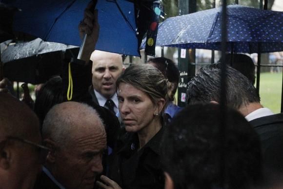 La exesposa de Nisman participó de la marcha. Foto: Reuters