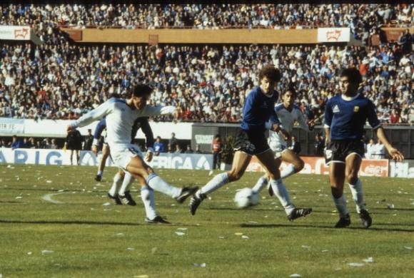 Uruguay vence a Argentina en la Copa América de 1987.