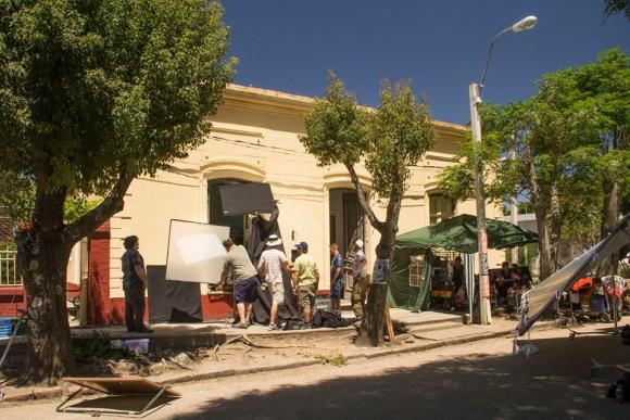 Una de las casas de San Antonio convertida en la vivienda de un personaje de la ficción.