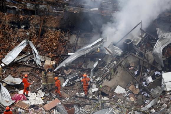Explosión en Río de Janeiro. Foto: Reuters