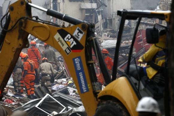 Explosión en Río de Janeiro. Foto: EFE