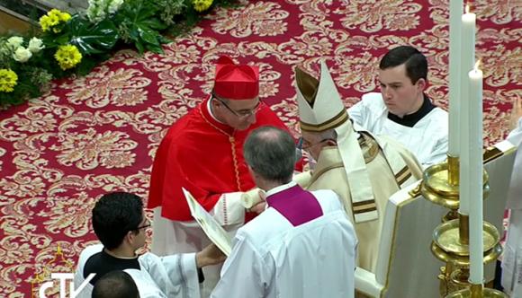 Daniel Sturla es nombrado Cardenal. Foto: Captura de video