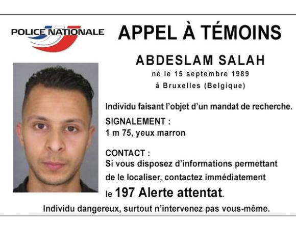 El terrorista prófugo que busca Francia. Foto: Policía Nacional de Francia