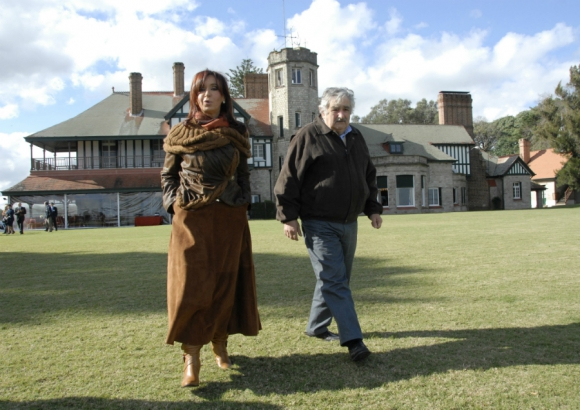 Con Cristina Fernández en la estancia presidencial de Anchorena. Foto: Archivo El País
