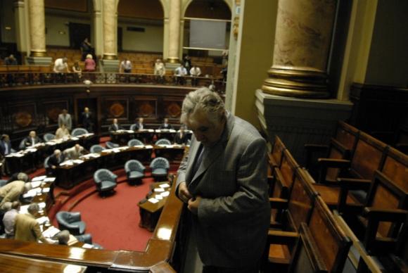 Mujica en el Palacio Legislativo. Foto: Archivo El País