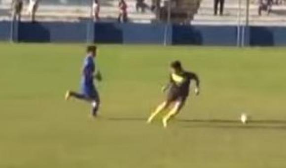 Guillermo Centurión y un gol a pura decisión.