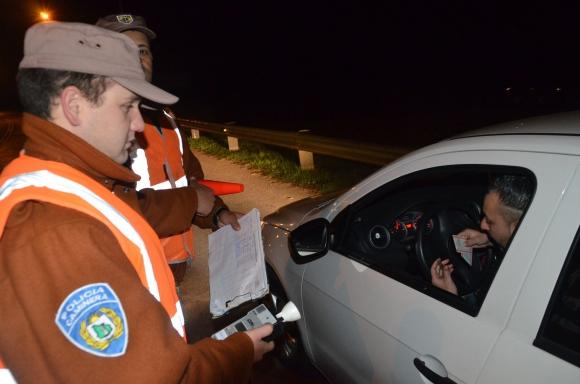 Controles de Policía Caminera en Durazno. Foto: Víctor Rodríguez
