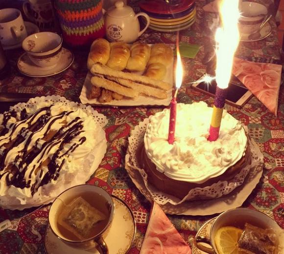 Así festejó Lali Espósito con su familia. Foto: Instagram