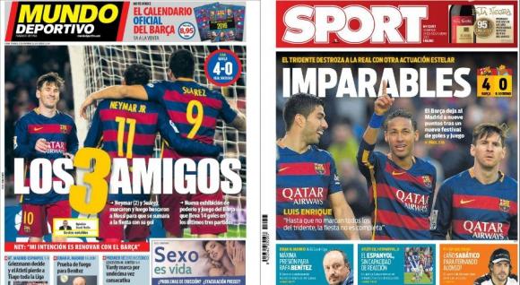 Las portadas de Mundo Deportivo y Sport del domingo 29 de noviembre.