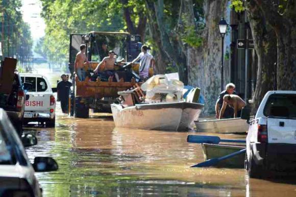 La creciente en Paysandú. Foto: Daniel Rojas.