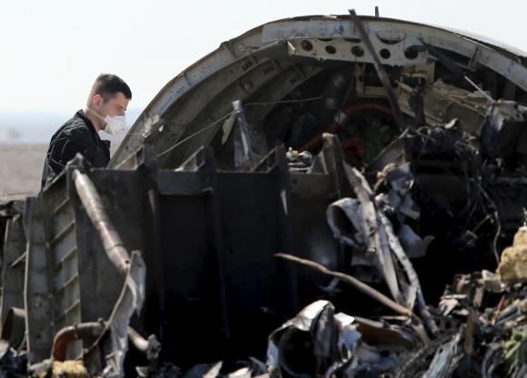 Una delegación rusa llegó al lugar del accidente en Egipto. Foto: Reuters