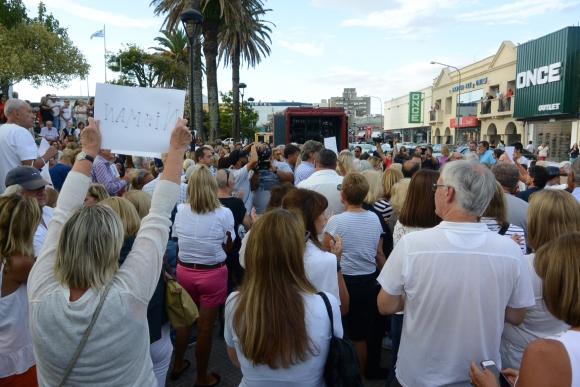 En Maldonado también se movilizan en homenaje a Nisman. Foto: Ricardo Figueredo