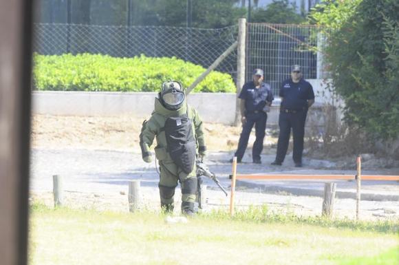Detonan explosivo en WTC Foto: Darwin Borrelli