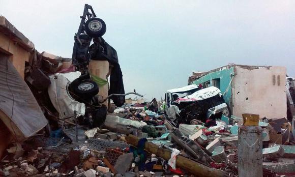 Al menos 11 muertos tras tornado en México. Foto: EFE