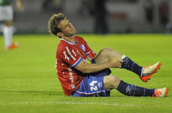 Iván Alonso en el empate ante Racing. Foto: archivo El País.