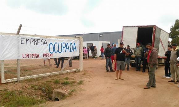 Desocupación de Aratirí en Valentines. Foto: Néstor Araújo