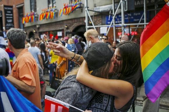 Rienda suelta a la alegría en las calles de Nueva York. Foto: Reuters.