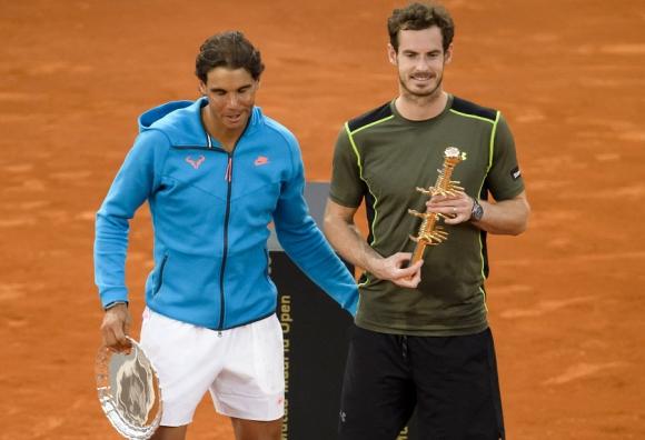 Nadal y Murray. El español perdió el título ante el escocés.