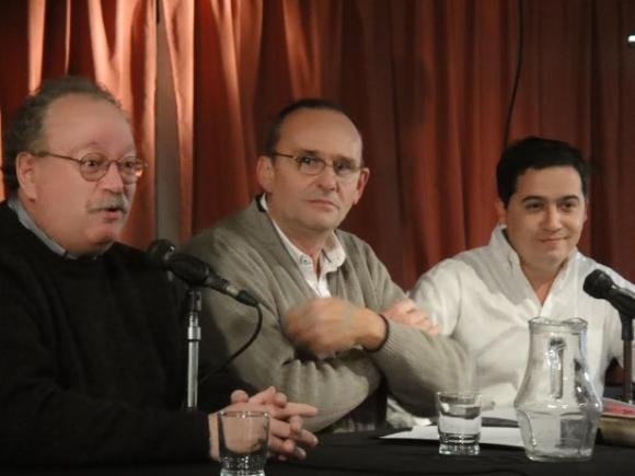 Jorge Fondebrider, Marcelo Zabaloy y Eugenio Conchez