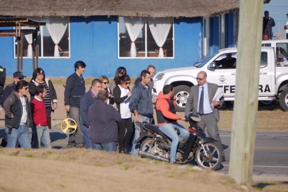 Reconstrucción del homicidio de Pablo Blois. Foto: Ricardo Figueredo