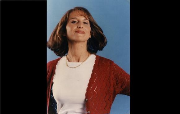 Ana Nahúm en 1996. Dos años antes comenzó en TV en Canal 4.