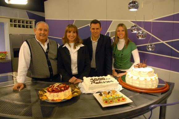 Ana Nahúm en el equipo de Puglia & Cia, en Canal 10