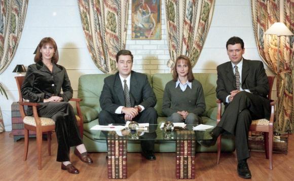 Ana Nahúm integró el equipo de Hola gente, de Teledoce. (1999)