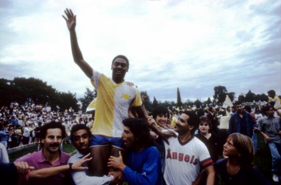 Bella Vista campeón uruguayo de 1990; uno de sus símbolos fue Ruben Silva. (Foto: archivo de El País)