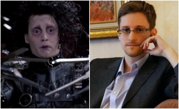 Edward Scissorhands y Edward Snowden. Idénticos.