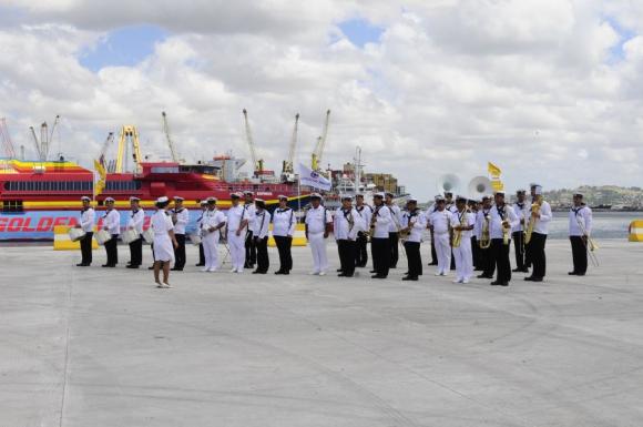 Inauguración del Muelle C del Puerto de Montevideo. Foto: Marcelo Bonjour.