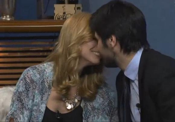 El beso de Natalie Yoffe y Andrés Ojeda