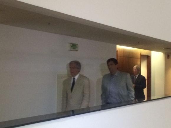 Tabaré Vázquez se reúne con la oposición. Foto: Florencia Barré