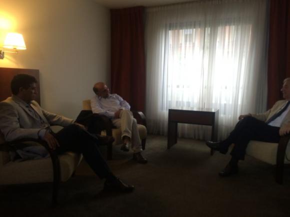 Mieres reunido con Vázquez. Foto: Florencia Barré