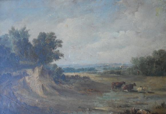Henri Van Wyk: uno de los típicos paisajes del pintor holandés (Ámsterdam, 1833) en el estado original y luego de su restauración.