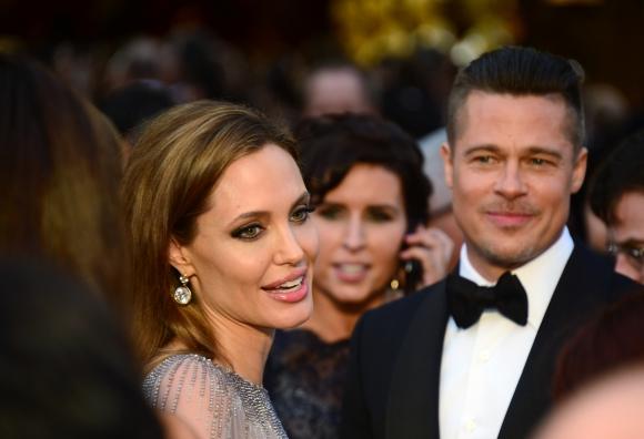Brad Pitt y Angelina Jolie. Foto: AFP