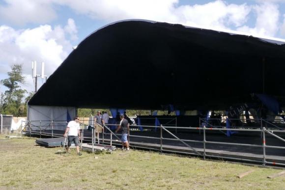Preparativos para el Punta del Este Summer Festival. Foto: Ricardo Figueredo