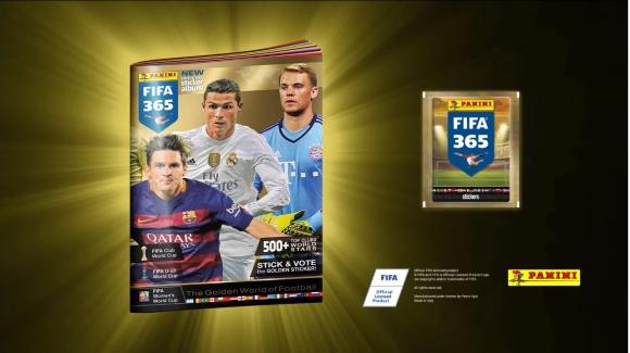 Álbum Panini FIFA 365. Foto: captura video Panini