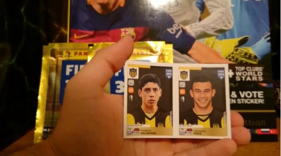 Valverde y Píriz en el Álbum Panini FIFA 365. Foto: captura video Youtube