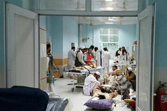 Hospital luego del ataque. Foto: AFP/MEF