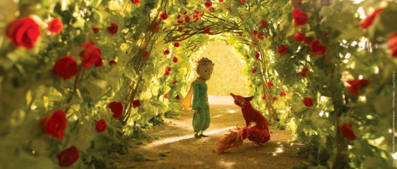 El personaje de Antoine de Saint-Exupéry se mezcla con la historia de una niña.