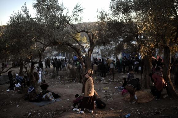 Los refugiados llegan todos los días. Foto: AFP