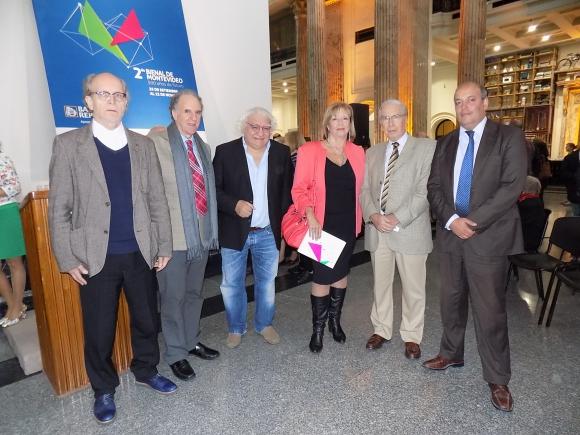 Alfons Hug, Jorge Srur, Ricardo Alarcón, María Julia Muñoz, Julio Porteiro, Alejandro Denes.